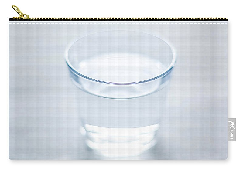 White Background Carry-all Pouch featuring the photograph Glass Of Water by Steven Errico