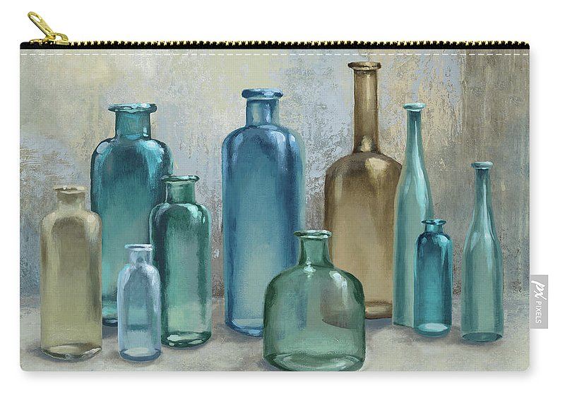 Glass Carry-all Pouch featuring the painting Glass Reflections by Michael Marcon
