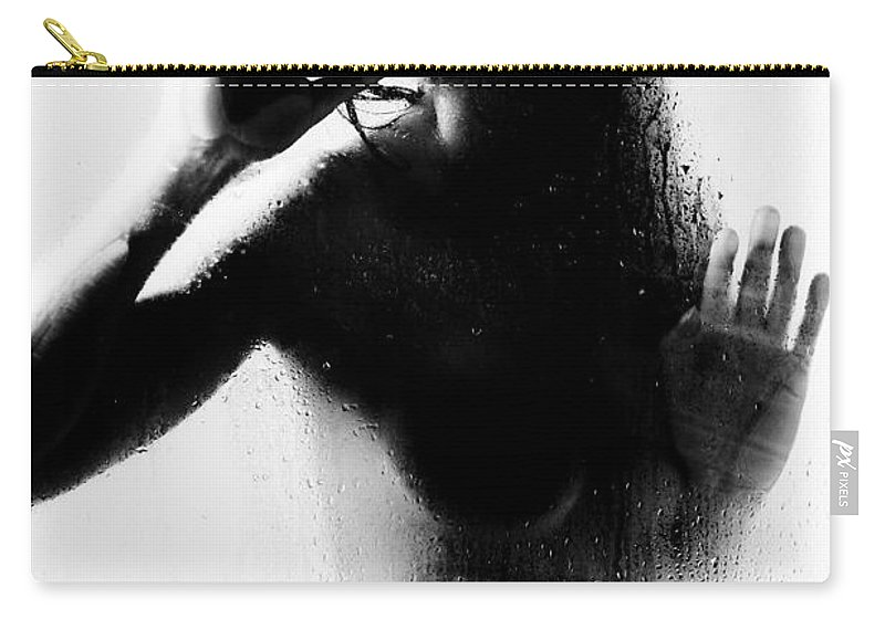 Art Carry-all Pouch featuring the photograph Glass Shadows by Jt PhotoDesign