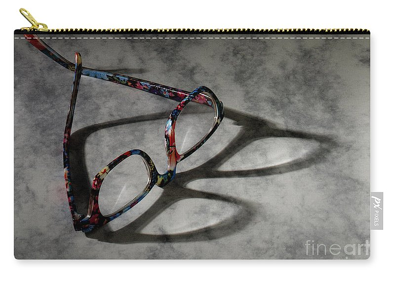Glasses Carry-all Pouch featuring the photograph Glasses 1b by Gary Gingrich Galleries
