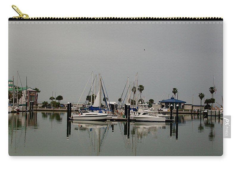 Corpus Christi Bay Carry-all Pouch featuring the photograph Glassy Water by Laurette Escobar