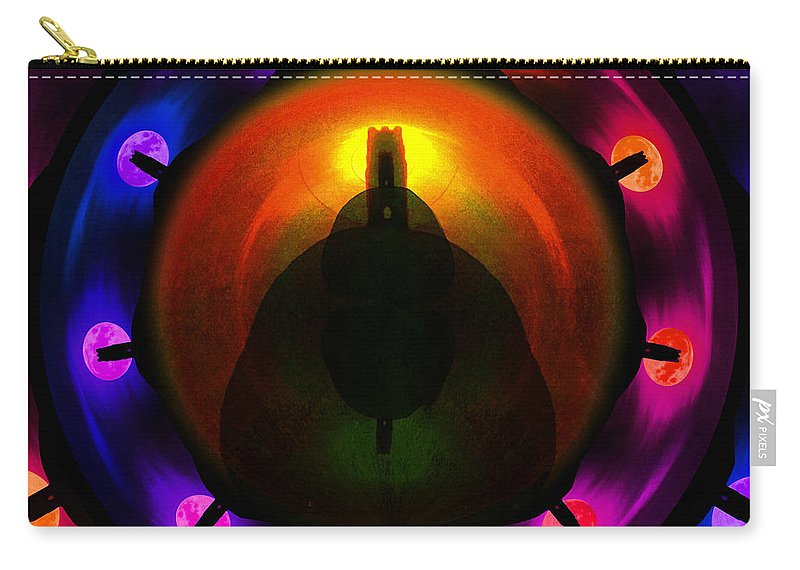 Glastonbury Carry-all Pouch featuring the painting Glastonbury Tor by Neil Finnemore