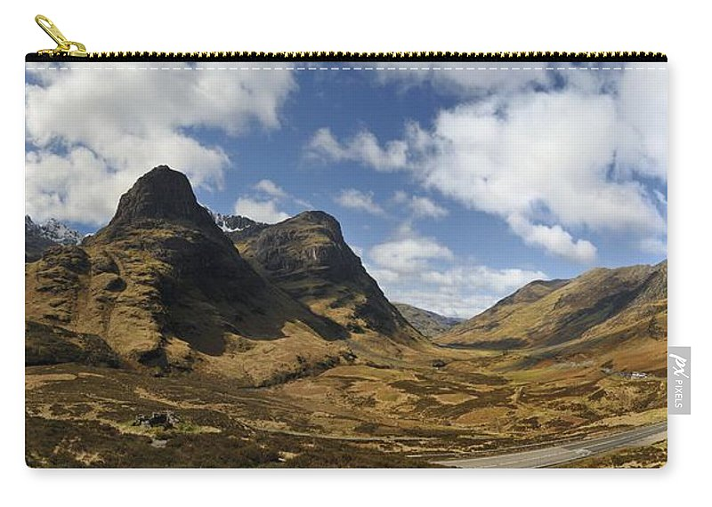 Three Sisters Of Glen Coe Carry-all Pouch featuring the photograph Glencoe by Alasdairjames