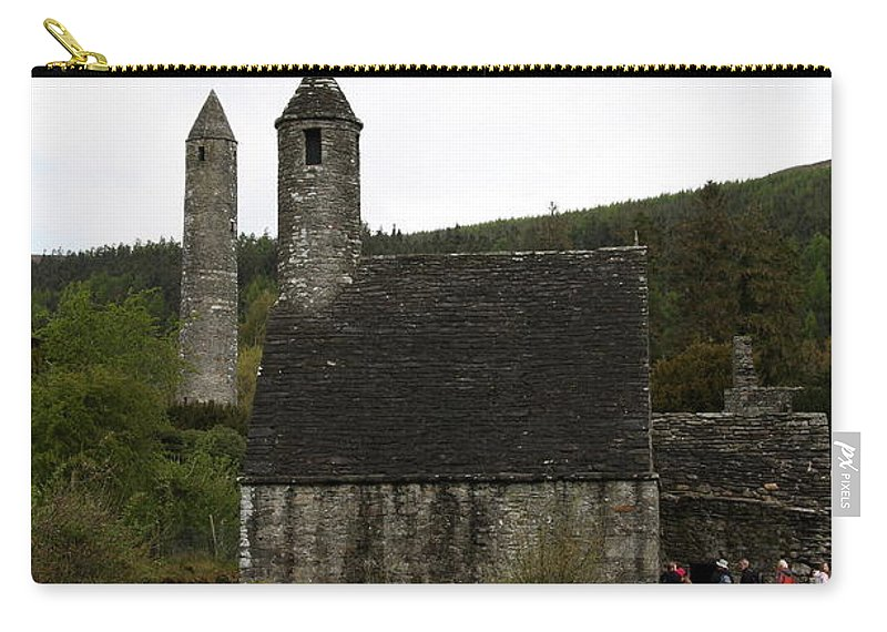 Cloister Carry-all Pouch featuring the photograph Glendalough Cloister Ruin - Ireland by Christiane Schulze Art And Photography