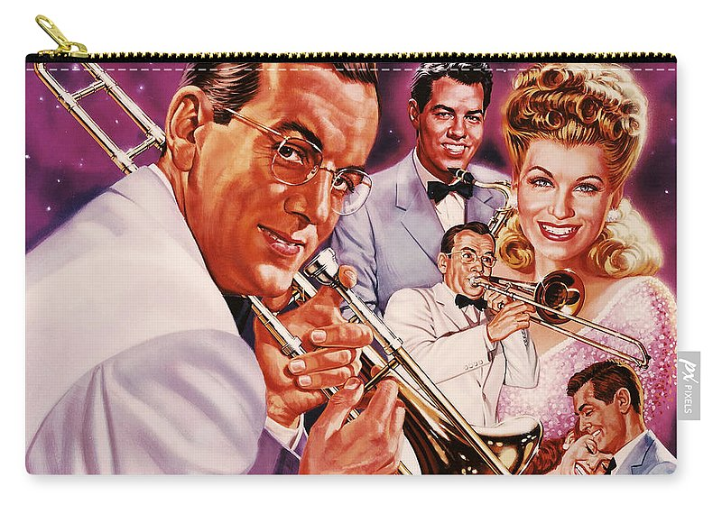 Portrait Carry-all Pouch featuring the painting Glenn Miller by Dick Bobnick