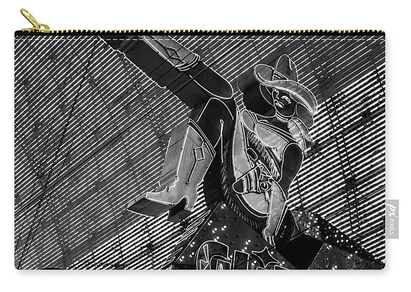 Las Vegas Carry-all Pouch featuring the photograph Glitter Gulch Neon by Angus Hooper Iii