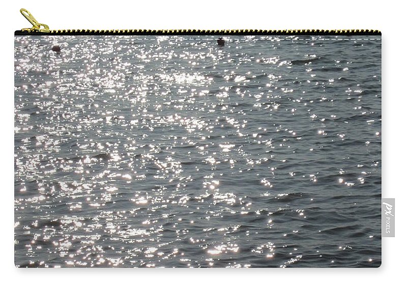 Water Carry-all Pouch featuring the photograph Glittering by Rosita Larsson