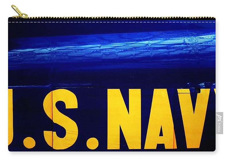Navy Carry-all Pouch featuring the photograph Global Force by Benjamin Yeager