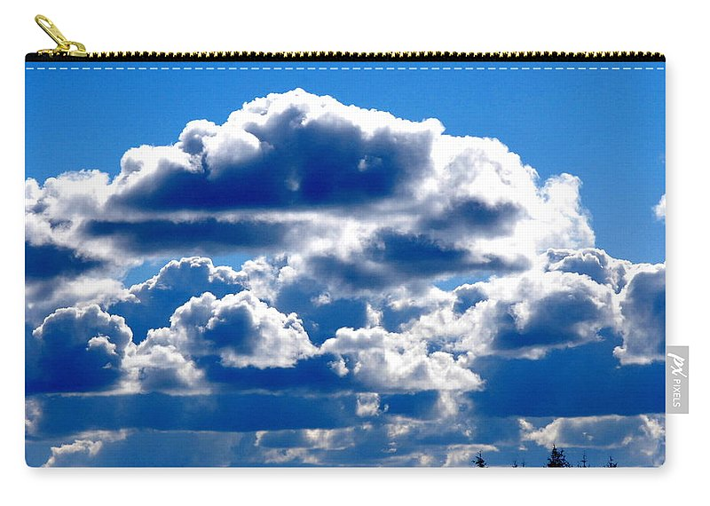 Cloud Carry-all Pouch featuring the photograph Glorious Clouds II by Kathy Sampson