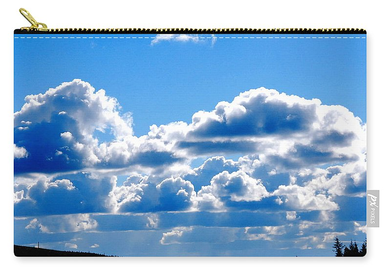 Cloud Carry-all Pouch featuring the photograph Glorious Clouds by Kathy Sampson