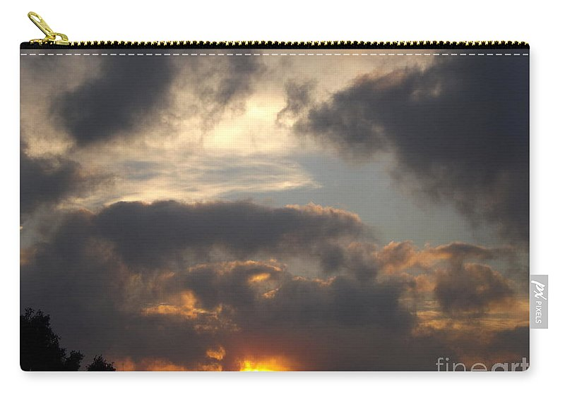 Sunrise Carry-all Pouch featuring the photograph Glorious Golden Sunrise by Jussta Jussta