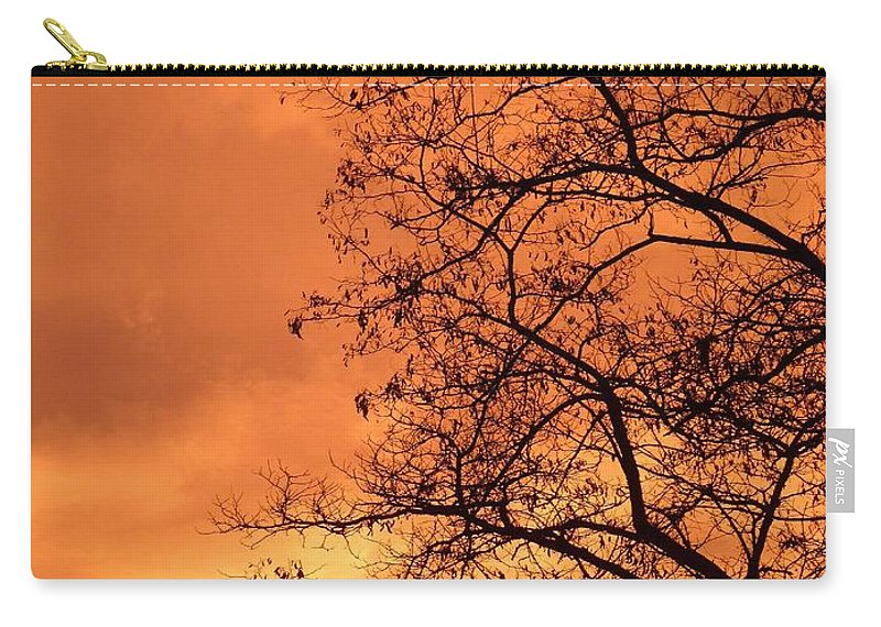 Glorious Silhouettes 1 Carry-all Pouch featuring the photograph Glorious Silhouettes 1 by Will Borden