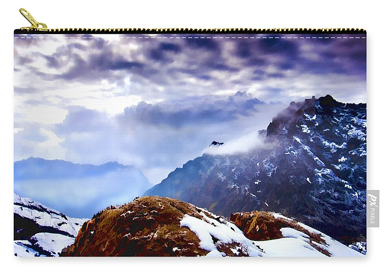 Mountain Carry-all Pouch featuring the painting Glory by Steven Richardson