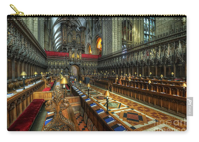 Hdr Carry-all Pouch featuring the photograph Gloucester Cathedral Choir by Yhun Suarez