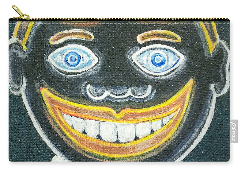 Tillie Of Asbury Park Carry-all Pouch featuring the painting Glow in the dark Tillie by Patricia Arroyo
