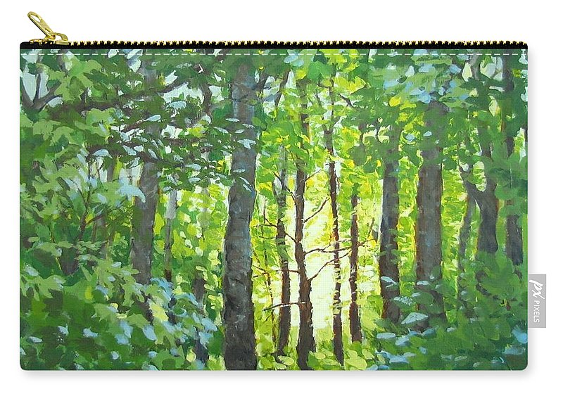 Landscape Carry-all Pouch featuring the painting Glow by Karen Ilari