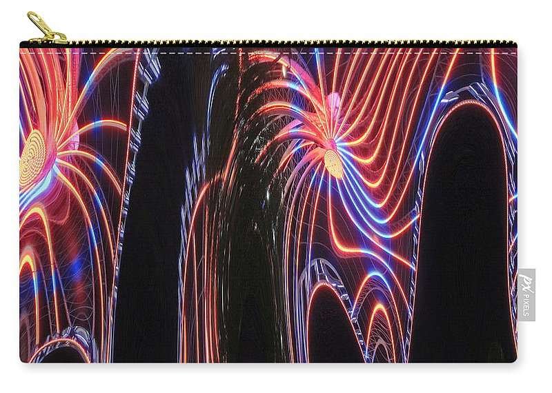 Digital Art Carry-all Pouch featuring the photograph Glowing Curves by Marian Bell