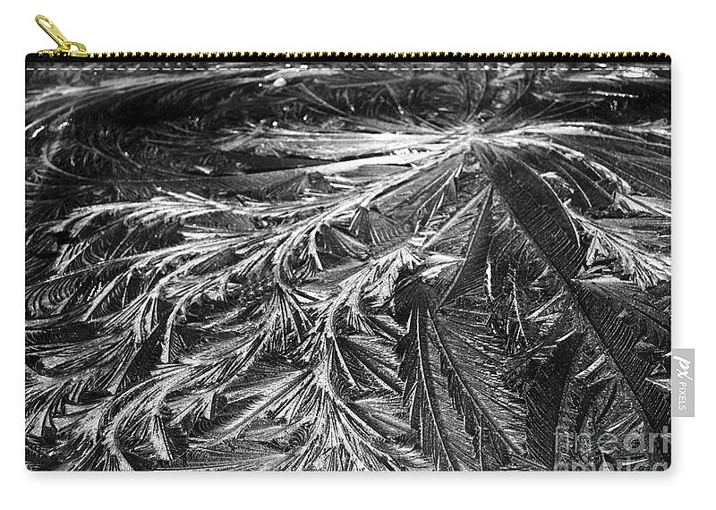 Ice Carry-all Pouch featuring the photograph Glowing Ice by Judy Wolinsky
