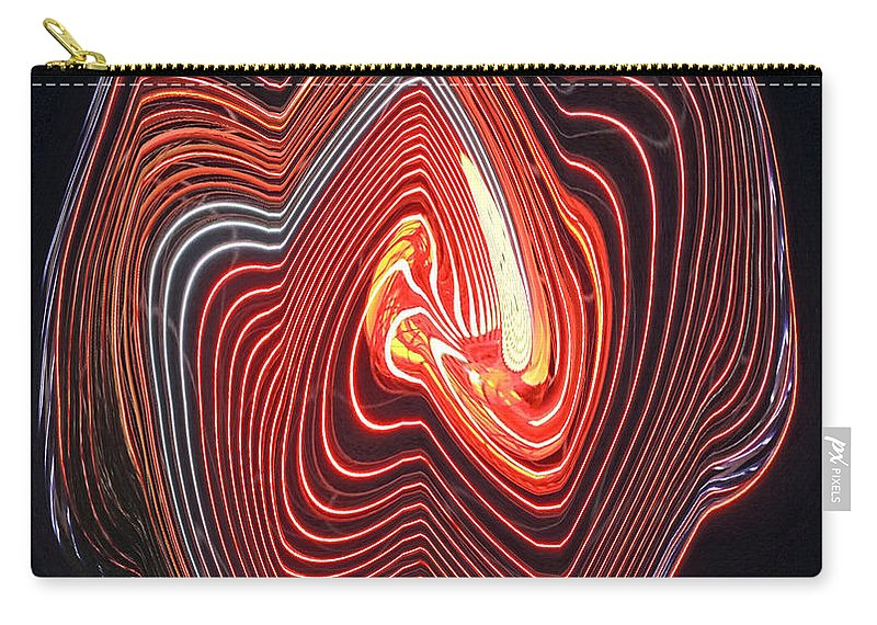 Digital Art Carry-all Pouch featuring the photograph Glowing Lines by Marian Bell