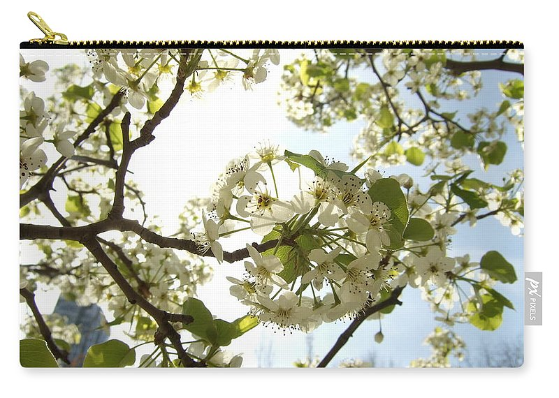 Carry-all Pouch featuring the photograph Glowing Petals by Katerina Naumenko