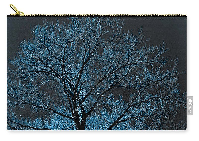 Tree Carry-all Pouch featuring the photograph Glowing Tree by Chad Rowe