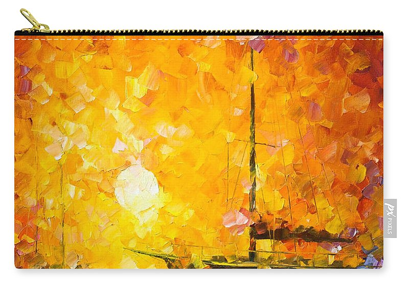 Art Gallery Carry-all Pouch featuring the painting Glows Of Passion - Palette Knife Oil Painting On Canvas By Leonid Afremov by Leonid Afremov