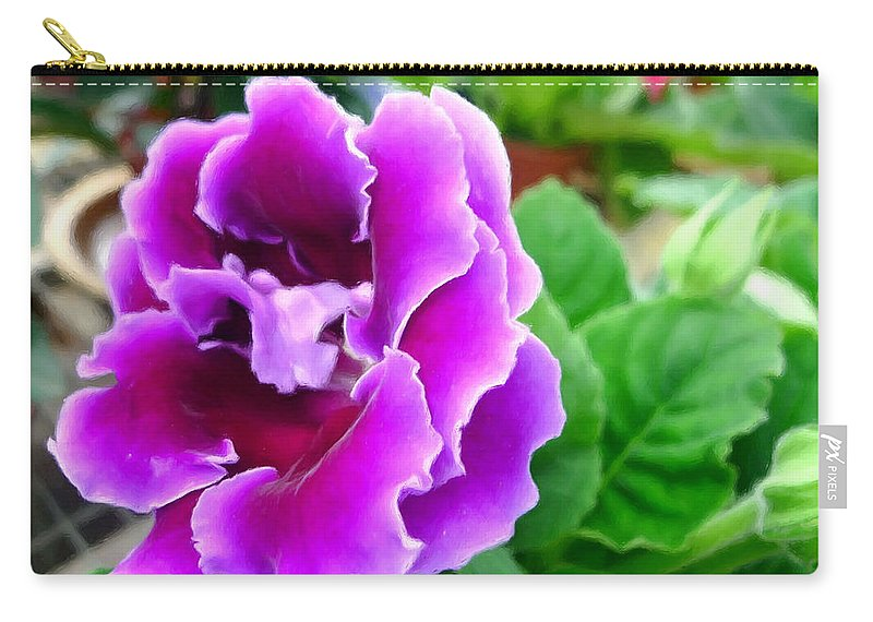 Gloxinia Flower Carry All Pouch For Sale By Jeelan Clark