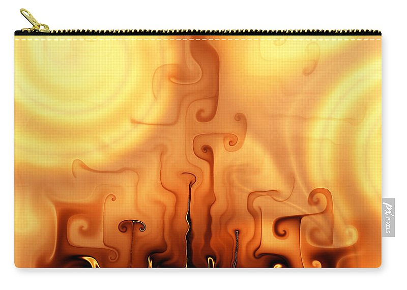 Gnarly Campfire Carry-all Pouch featuring the digital art Gnarly Campfire by Kiki Art