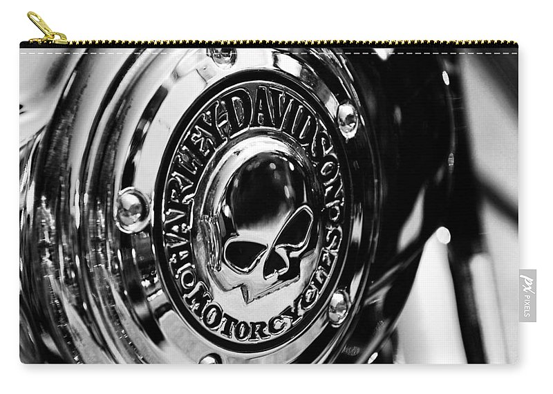 Motorcycle Carry-all Pouch featuring the photograph Gnarly Harley by Beverly Stapleton