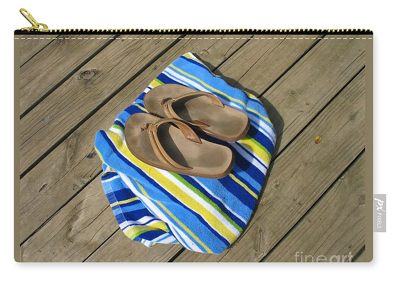 Towel Carry-all Pouch featuring the photograph Go Jump In The Lake by Ann Horn