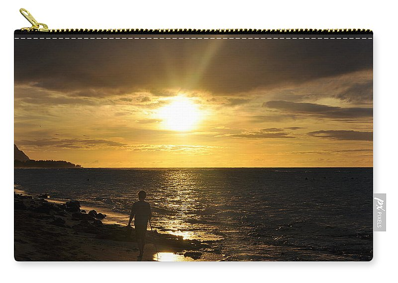 Scenic Carry-all Pouch featuring the photograph Go Placidly by AJ Schibig