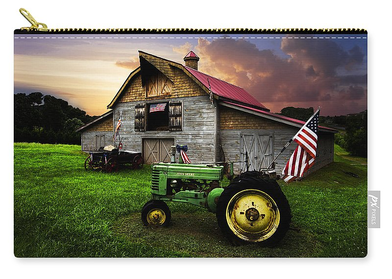 American Carry-all Pouch featuring the photograph God Bless America by Debra and Dave Vanderlaan