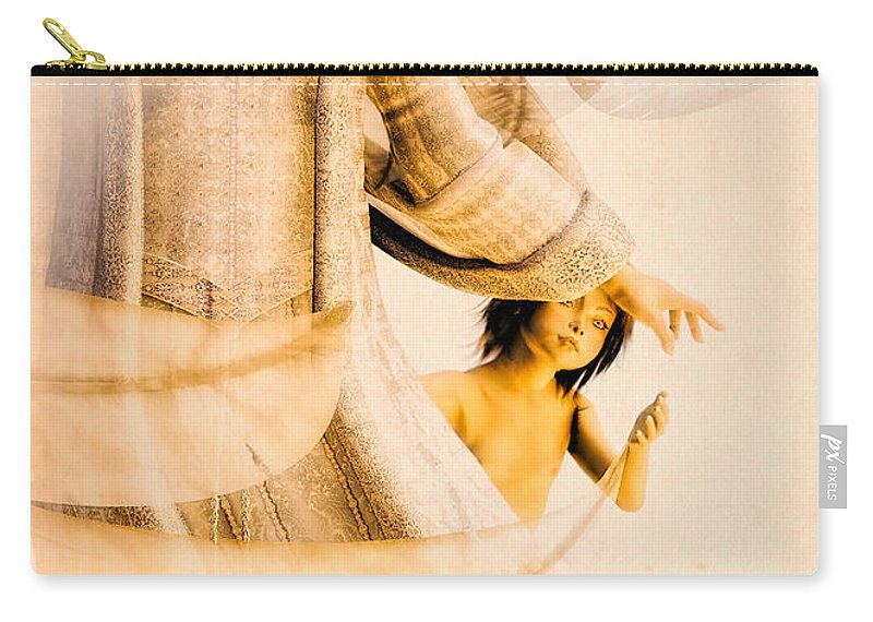 Angel Carry-all Pouch featuring the digital art God Bless This Child by Bob Orsillo