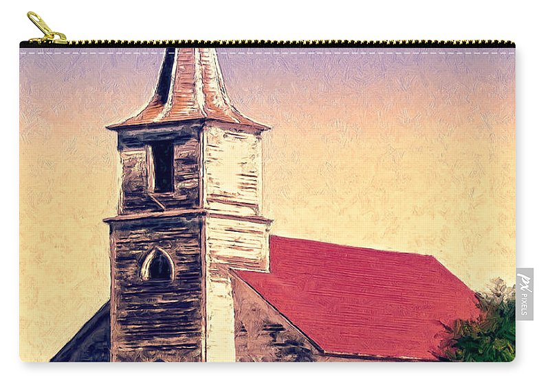 Church Carry-all Pouch featuring the painting God Is by Dominic Piperata