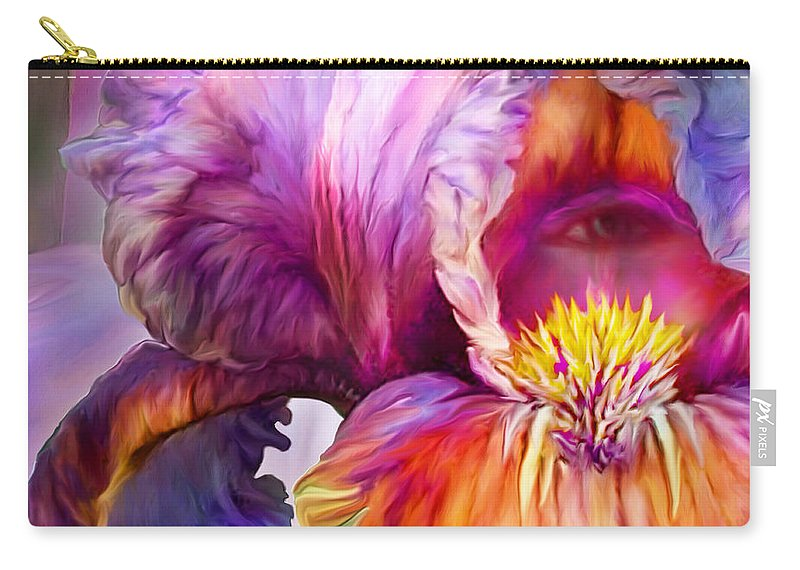Goddess Carry-all Pouch featuring the mixed media Goddess Of Insight by Carol Cavalaris