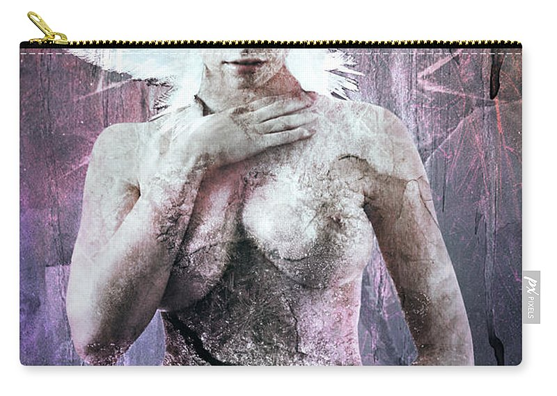 Elsa Carry-all Pouch featuring the digital art Goddess Of The Water Oh My Goddess Edition by Michael Volpicelli