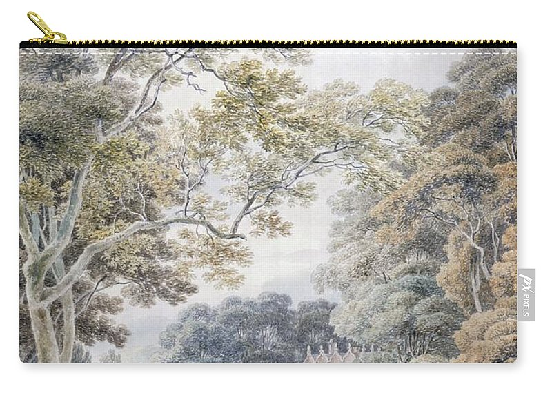 Godinton Carry-all Pouch featuring the drawing Godinton, Near Ashford, Kent by Michael Rooker