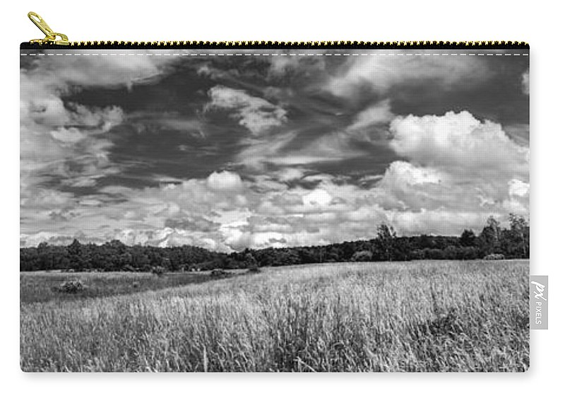 Barn Carry-all Pouch featuring the photograph God's Country In Monochrome by Guy Whiteley