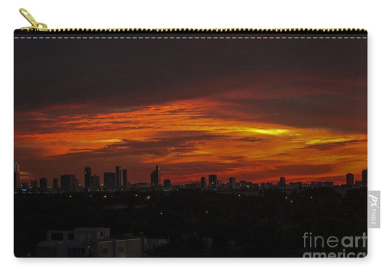 Sunset Carry-all Pouch featuring the photograph Gods Free Gift by Rene Triay Photography