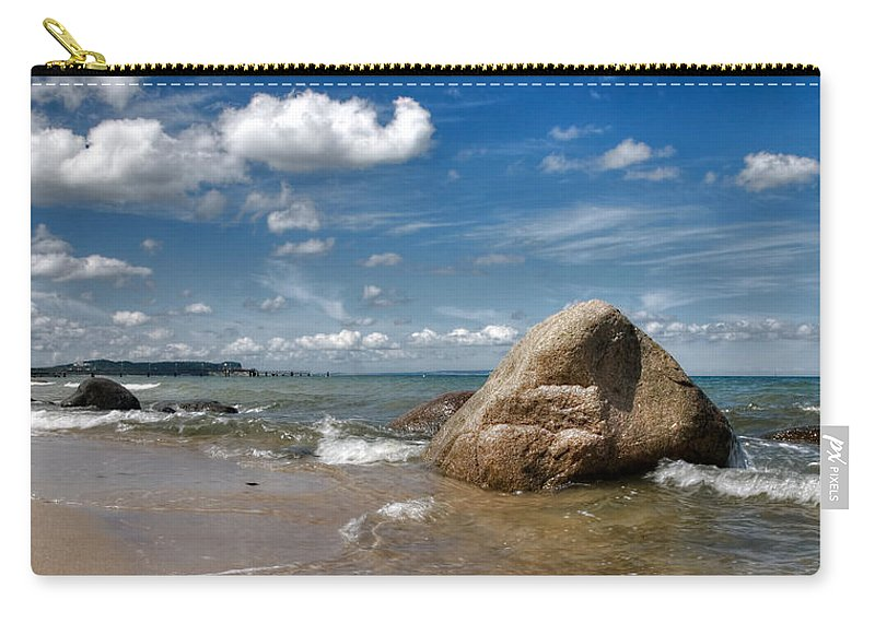 Ostsee Carry-all Pouch featuring the pyrography Goehren by Steffen Gierok