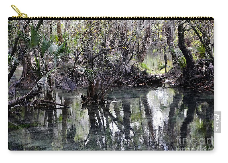 Fresh Water Springs Carry-all Pouch featuring the photograph Going Back In Time by Carol Groenen