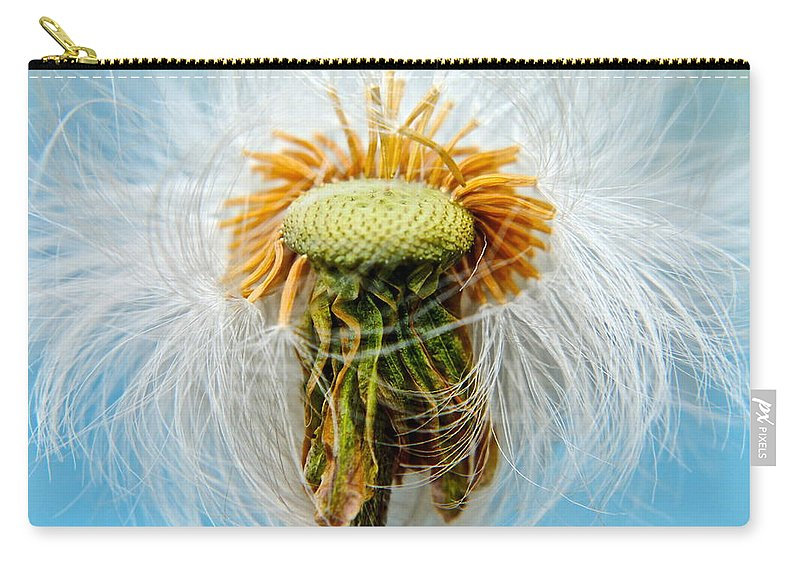 Dandelion Carry-all Pouch featuring the photograph Going Bald by Frozen in Time Fine Art Photography