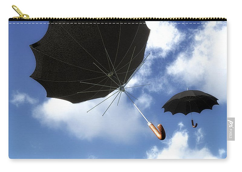Umbrella Carry-all Pouch featuring the photograph Going Down Fast And Slow by Bob Orsillo