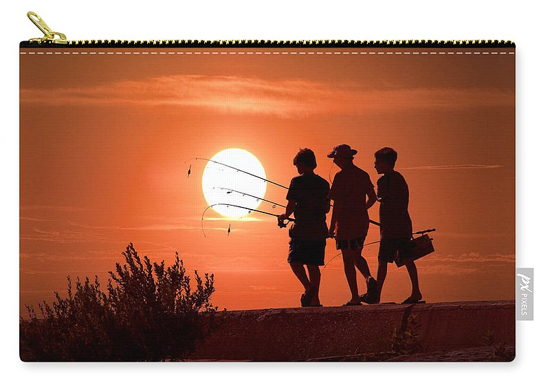 Art Carry-all Pouch featuring the photograph Going Fishing by Randall Nyhof
