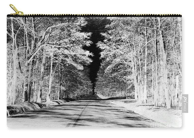 Black And White Carry-all Pouch featuring the photograph Going Home by Carolyn Stagger Cokley