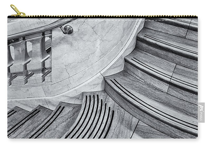 Grand Central Terminal Carry-all Pouch featuring the photograph Going Up by Susan Candelario