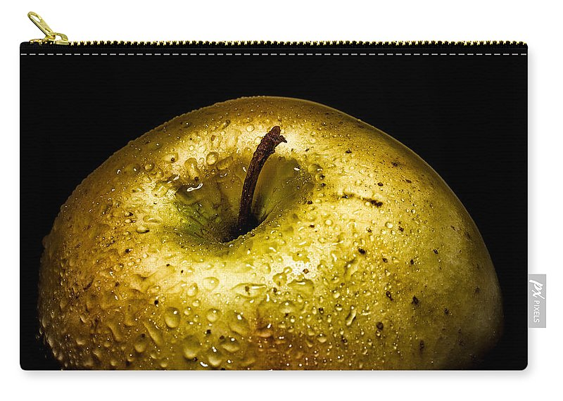 Fruit Carry-all Pouch featuring the photograph Gold Apple by Alessandro Martinetti