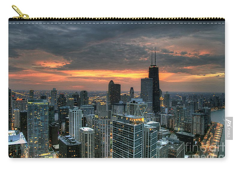 Canon Carry-all Pouch featuring the photograph Gold Coast Sunset by Steven K Sembach