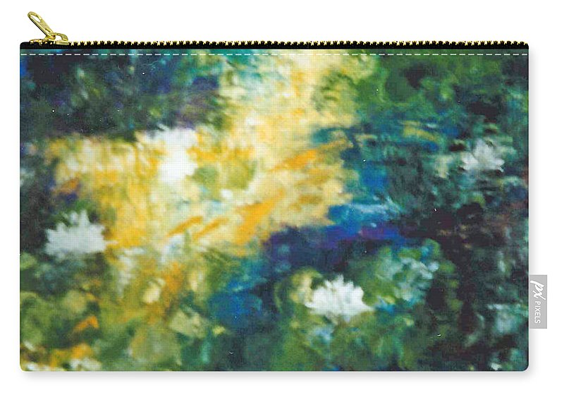 Gold Fish Carry-all Pouch featuring the painting Gold Fish Pond by Lord Frederick Lyle Morris - Disabled Veteran