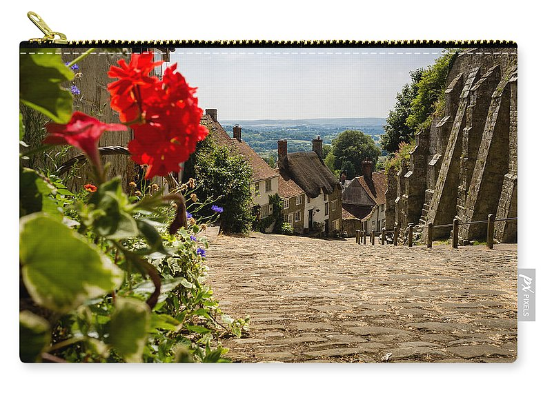 Abbey Carry-all Pouch featuring the photograph Gold Hill Shaftesbury by Mark Llewellyn